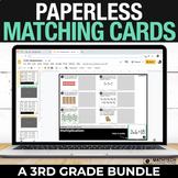 3rd Grade Digital Math Centers - Paperless Matching Cards