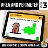 3rd Grade Digital Math Game | Area and Perimeter | Distanc