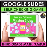3rd Grade Digital Math Games   Area and Perimeter Missing Sides