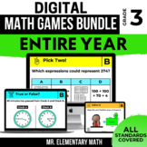 3rd Grade Digital Math Games Bundle | Distance Learning |