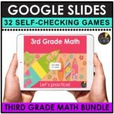 3rd Grade Digital Math Games   Google Slides Math Bundle