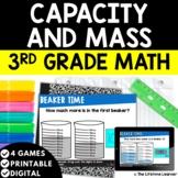 Mass and Capacity | 3rd Grade Math | Print and Digital