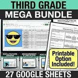 3rd Grade Digital Math Pixel Art Bundle - Math Mystery Pic
