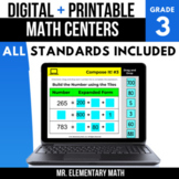 3rd Grade Digital Math Centers Bundle   Google Classroom™