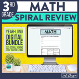 3rd Grade Digital Math Spiral Review Distance Learning Sel