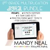 3rd Grade Digital Math Multiplication Bundle   Distance Learning