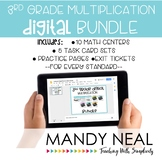 3rd Grade Digital Math Multiplication Bundle | Distance Learning