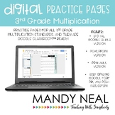 3rd Grade Digital Multiplication Practice Pages