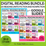3rd Grade Digital Reading Bundle: Fiction and Nonfiction f
