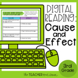3rd Grade Digital Reading: Cause and Effect for Google Sli