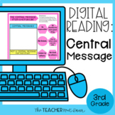 3rd Grade Digital Reading: Central Message for Google Driv