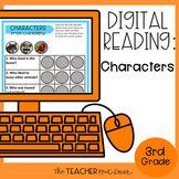 Characters Digital Reading for Google Slides™ Distance Learning