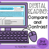 3rd Grade Digital Reading: Compare and Contrast for Google