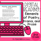Elements of Poetry, Drama, & Prose Digital Reading for Goo