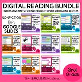 3rd Grade Digital Reading Nonfiction Bundle for Google Sli