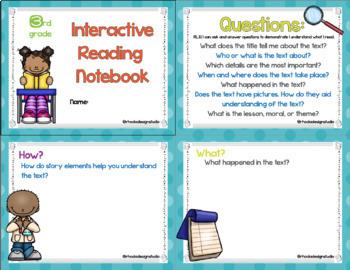 3rd Grade Digital Reading Notebook Google Classroom No Prep Common Core