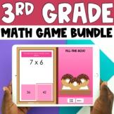 3rd Grade Digital Self-Checking Math Games Bundle - PowerP