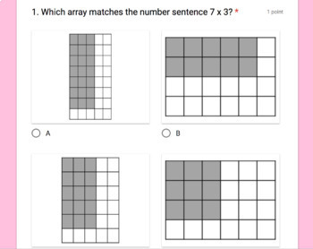 3rd Grade Digital Self-Grading Math Bell Ringers Growing Bundle