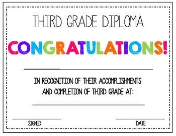 3rd Grade Diploma