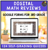 3rd Grade Distance Learning | Google Forms Math Review