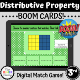 3rd Grade Distributive Property Match Game | CCSS 3.MD.C7c