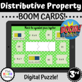 3rd Grade Distributive Property of Multiplication Puzzle |
