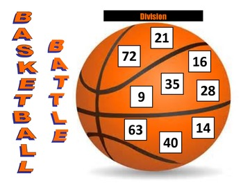 3rd - 4th Grade Division Basketball Battle Game for Common Core
