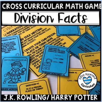 3rd Grade Division Activity Game Math Activity for Review
