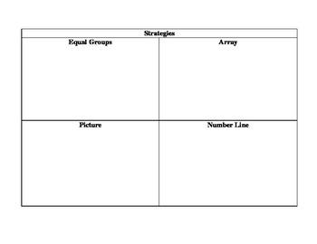3rd Grade Division Graphic Organizer Standard 3.OA