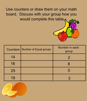 3rd Grade Division: Number of Equal Groups Smartboard Activity