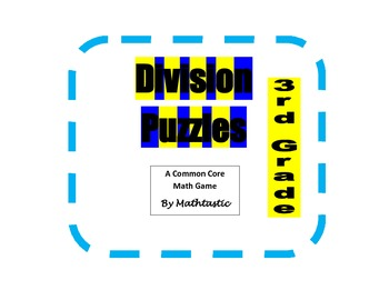 3rd Grade Division Puzzles Game for Common Core