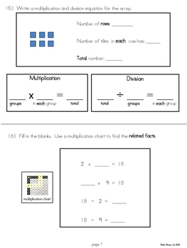 3rd Grade Division Unit (Modified for Special Education)