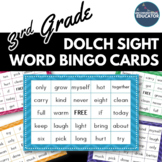 3rd Grade Dolch Sight Word BINGO Card Printable: Includes