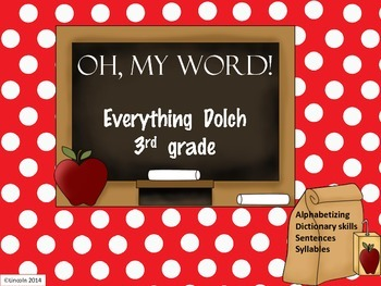 3rd Grade Dolch Packet:Alphabetizing, Guide Words, Syllabl