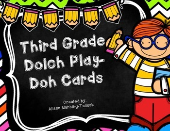 3rd Grade Dolch Play-Doh Cards
