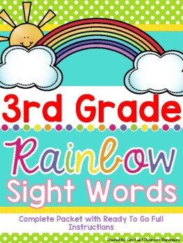 Third Grade Dolch Rainbow Sight Words (Complete Set)