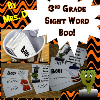 3rd Grade Dolch Sight Word Boo! Game - Halloween
