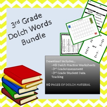 3rd Grade Dolch Sight Word Bundle