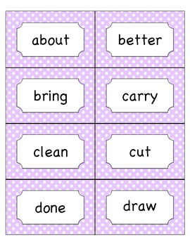 3rd Grade Dolch Sight Word Card Set