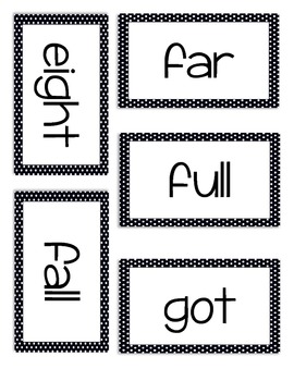 3rd Grade Dolch Sight Word Cards