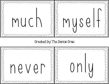 3rd Grade Sight Word Cards