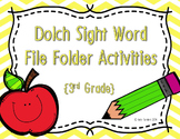 3rd Grade Dolch Sight Word Write and Wipe File Folder Activities