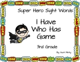 3rd Grade Dolch Sight Word Game, I Have Who Has