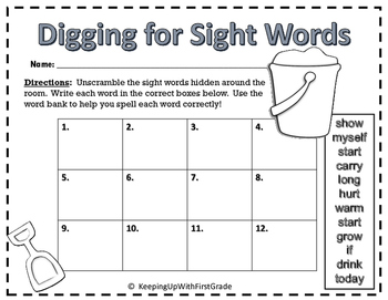3rd Grade Dolch Sight Word List