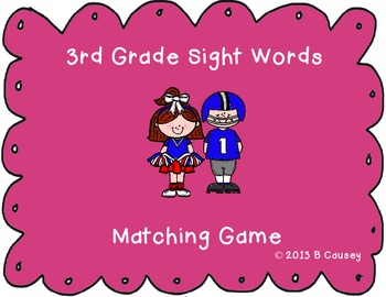 3rd Grade Dolch Sight Words Matching Game