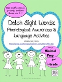 3rd Grade Sight Words: Phonological Awareness & Language A