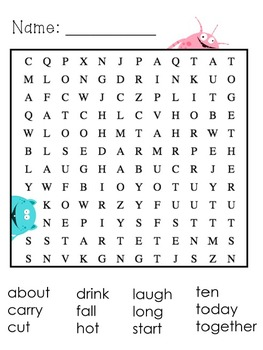 3rd Grade Dolch Sight Words- Word Searches
