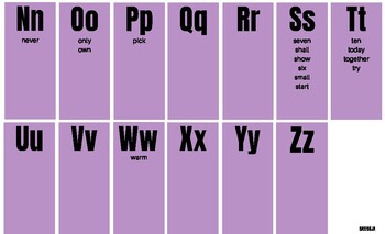 3rd Grade Dolch Spelling Chart