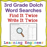 3rd Grade Dolch Words: Sight Word Searches