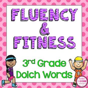 3rd Grade Dolch Words Fluency & Fitness Brain Breaks Bundle